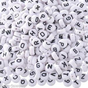 H-J-520-Mix-Weiss-Buchstaben-A-Z-Rund-Acryl-Perlen-Beads-7mm