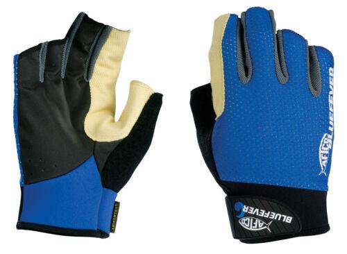 NEW AFTCO Bluefever Short Pump Long Range Fish Fighting Gloves M GLOVESPLRMBLUE