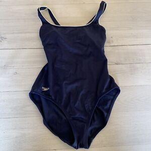 Speedo Women's One Piece Swimsuit Swimwear Size 10 Navy Blue