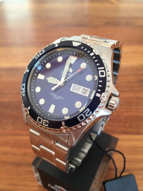 BEST PRICE!!! NEW Orient Ray II 2 blue Automatic Watch Automatik Taucher Uhr