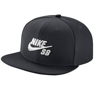 c24ab0d5f48 Nike Mens SB Icon Pro Snapback Hat Black white Nk628683 013 for sale ...