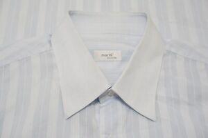 Marol Bologna Light Blue Striped 100% Cotton Dress shirt Sz 18