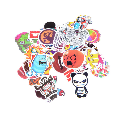 20-50pcs Mix Stickers Skateboard Sticker Graffiti Laptop Luggage Car Decals GN