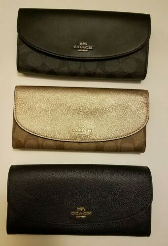 COACH Slim Envelope Wallet With Gift Box F54022 F54009 NWT