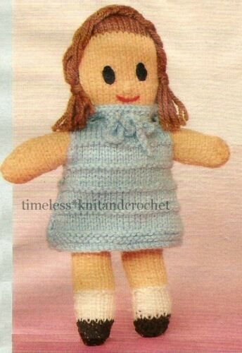 VINTAGE TOY KNITTING PATTERN FOR QUICK /& EASY KNIT DOLL GREAT FOR BEGINNERS