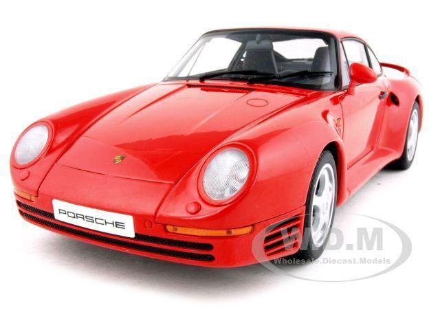 PORSCHE 959 röd 1 18 DIICAT bil modellllerL bilkonst 78082