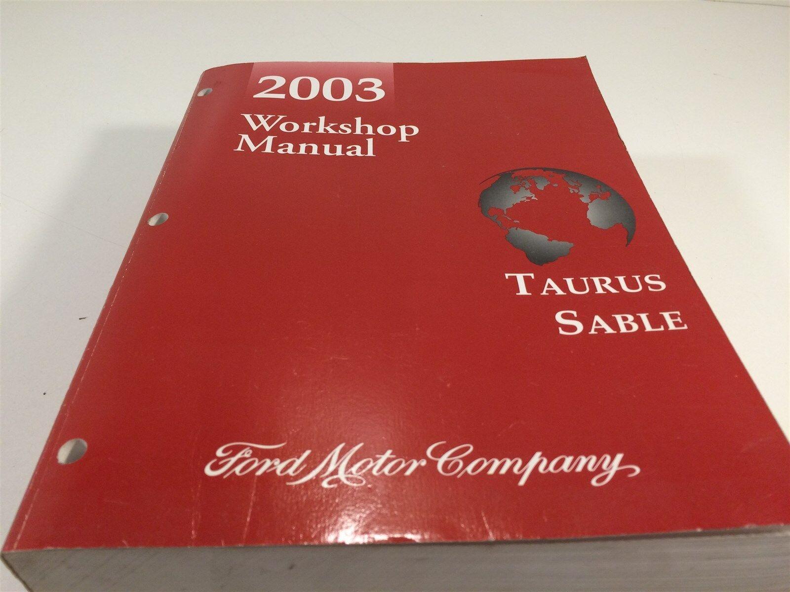 2003 ford taurus sable workshop repair service manual ebay rh ebay com 2003 ford taurus repair manual pdf 2003 ford taurus ses repair manual