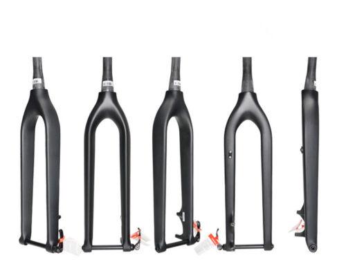 29er Full Carbon Mountain Bike Fork Tapered Fork Disc Brake Thru Axle 100*15mm