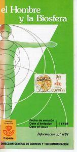 Espana-El-Hombre-y-la-Biosfera-ano-1984-DO-297