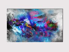 """229 x large canvas 18"""" x 32"""" Wall Art Astratto Multicolore ALBERO Print Picture"""