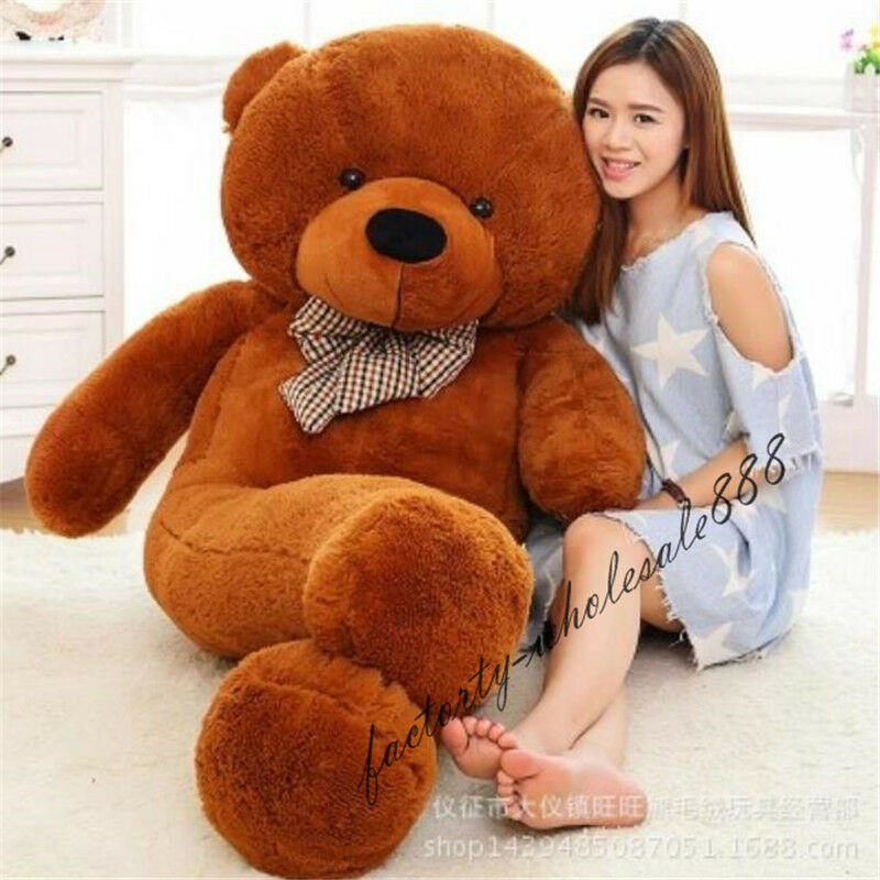 72in.Giant Huge Big  Dark Brown Teddy Bear Plush Soft Toys Gift 180cm