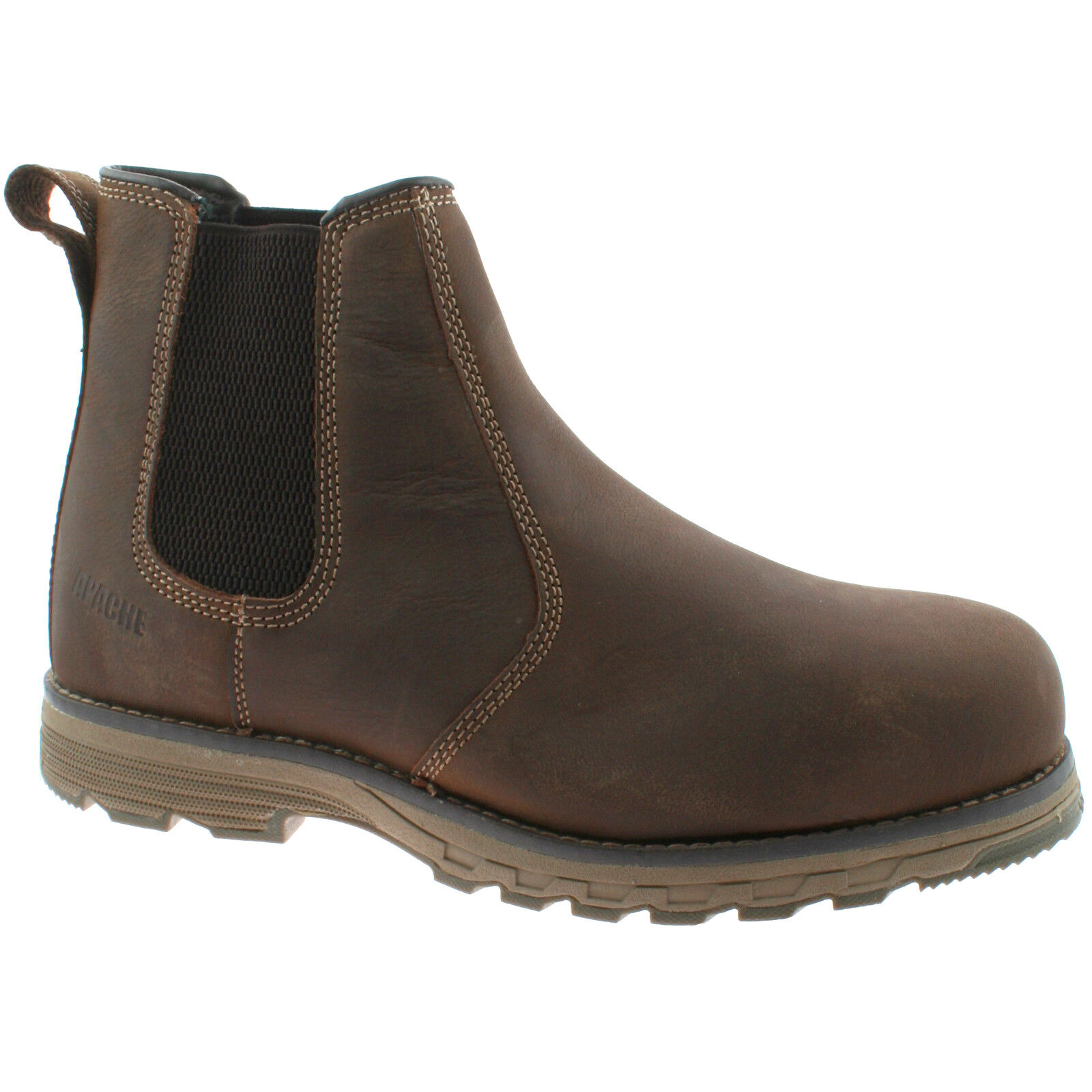 MENS APACHE FLYWEIGHT SAFETY BROWN NUBUCK LEATHER WATER RESISTANT DEALER BOOT