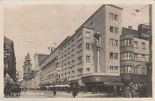 Linz Donau AK 1948 Landstrasse Passanten Geschäfte Österreich 1601176
