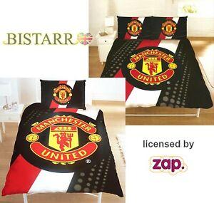 Manchester United Fc Single Double Duvet Cover Bed Set Football Bedding Man Utd Ebay