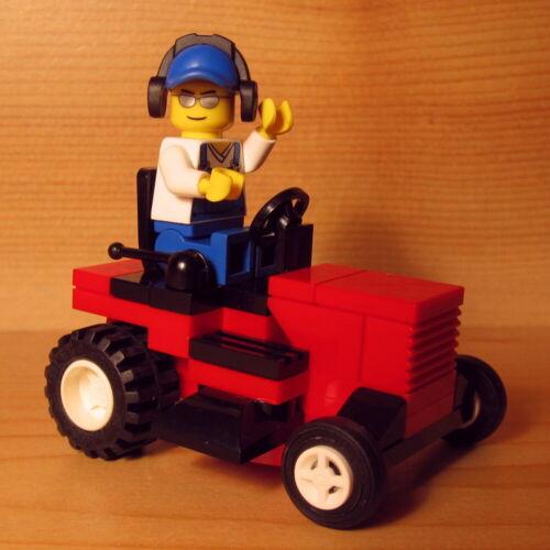 DadventureDan/'s CUSTOM RIDING MOWER RED for LEGO town city lawn service set