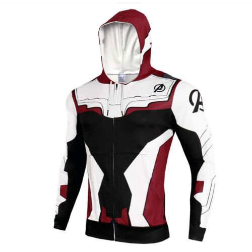 Avengers 4 Endgame Advanced Tech 3D Hoodies Men T-shirt Sweatshirt Jacket Zip Up