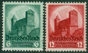 Germany 1934 Reichsparteitag Rally Day Mi546-547 Stamp Set MNH 50062