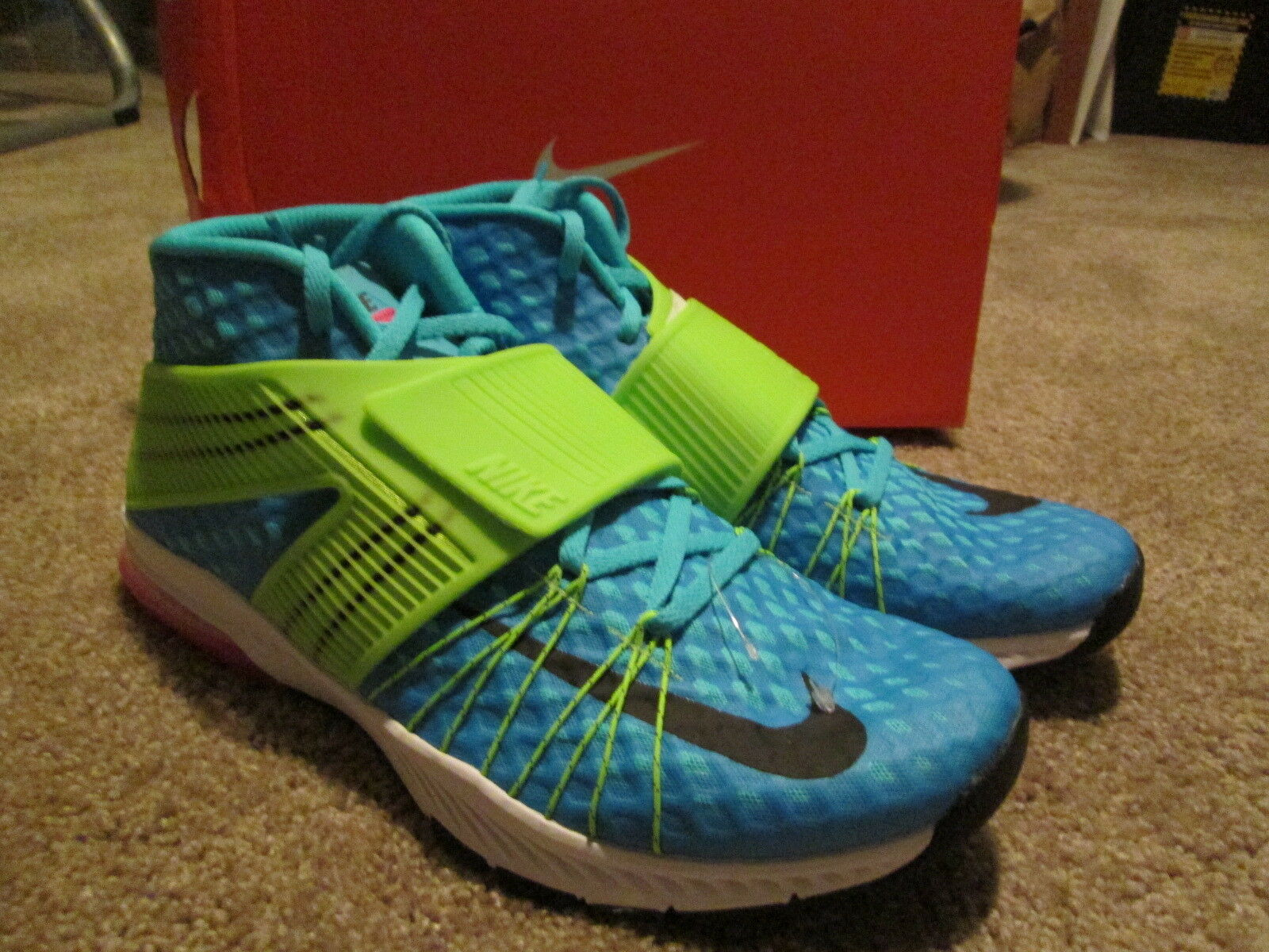 NEW Mens Nike Zoom Train Toranada Gamma Blue/Electric Green/Pink 11 FREE SHIP