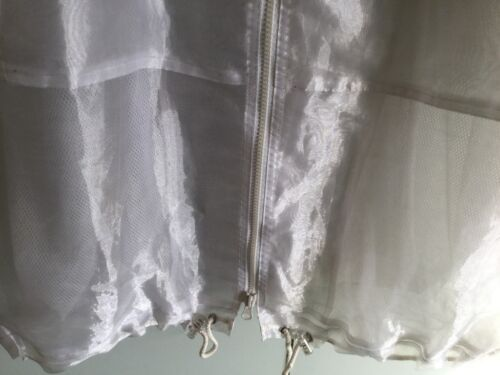 a Hood White See Polyester Front D Zip With o Fabric m 100 Thro 10 Size FwxUz