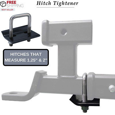 Rust Free OxGord Hitch Tightener Anti-Rattle Stabilizer for 2 and 3.75 Inch Hitches Heavy-Duty Lock Down Tow Clamp