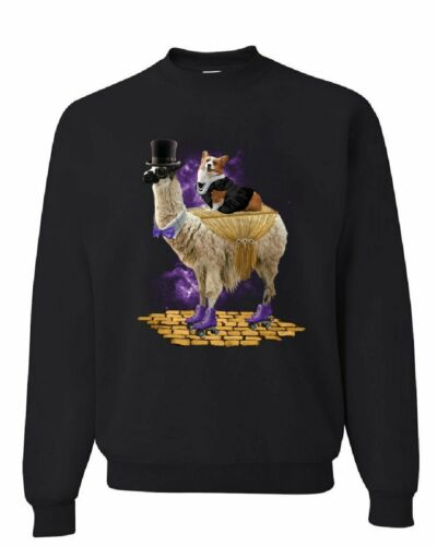 CORGI chevauchant un gentleman Llama Sweat drôle bizarre Univers Dog Sweater