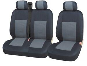 2x-Vordere-Sitzbezuege-Schonbezuege-2-1-Grau-Schwarz-Neu-fuer-Ford-Renault-Toyota