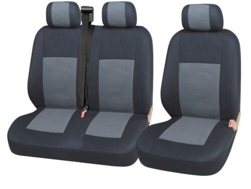 2x Vordere Sitzbezüge Schonbezüge 2+1 Grau Schwarz Neu für Ford Renault Toyota