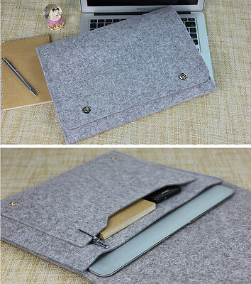 """13""""13.3"""" Felt Cover Laptop Sleeve Case Bag Notebook PC Pouch For Macbook Pro Air"""