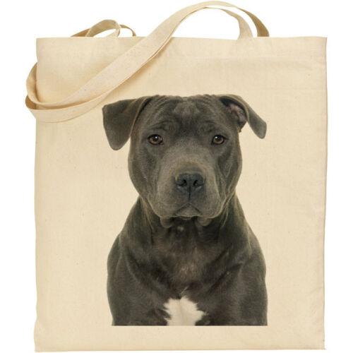 CS Blue Staffordshire Bull Terrier 0559 dog breed cotton shopping//tote bag