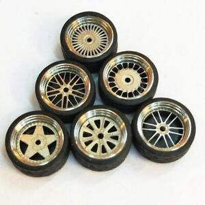 Escala-1-64-Ruedas-De-Aleacion-Custom-Hot-Wheels-Matchbox-neumaticos-de-goma-F9M3