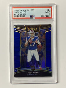 Josh Allen 2018 Panini Select Concourse Blue Prizm Bills #24 /175 PSA 9 Mint
