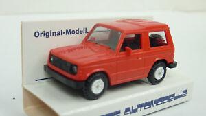 Rietze-1-87-H0-Nr-10180-Mitsubishi-Pajero-rot-in-OVP-A935