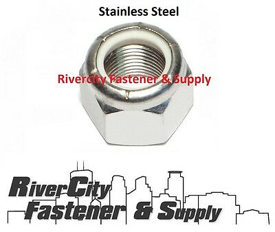 100 5//16-24 Stainless Nylon Insert Lock Nut Thin Jam Half Thick NTE 5//16x24