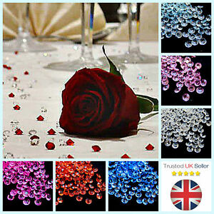 6.5mm / 10mm Wedding Decoration Scatter Crystals Table Diamonds Acrylic Confetti
