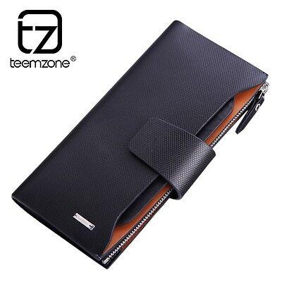 men Genuine leather organizer casual brand leather cash holder wallet