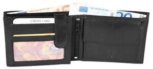 Akzent-Herren-Geldboerse-aus-Echtleder-Brieftasche-Geldtasche-Echt-Leder-schwarz