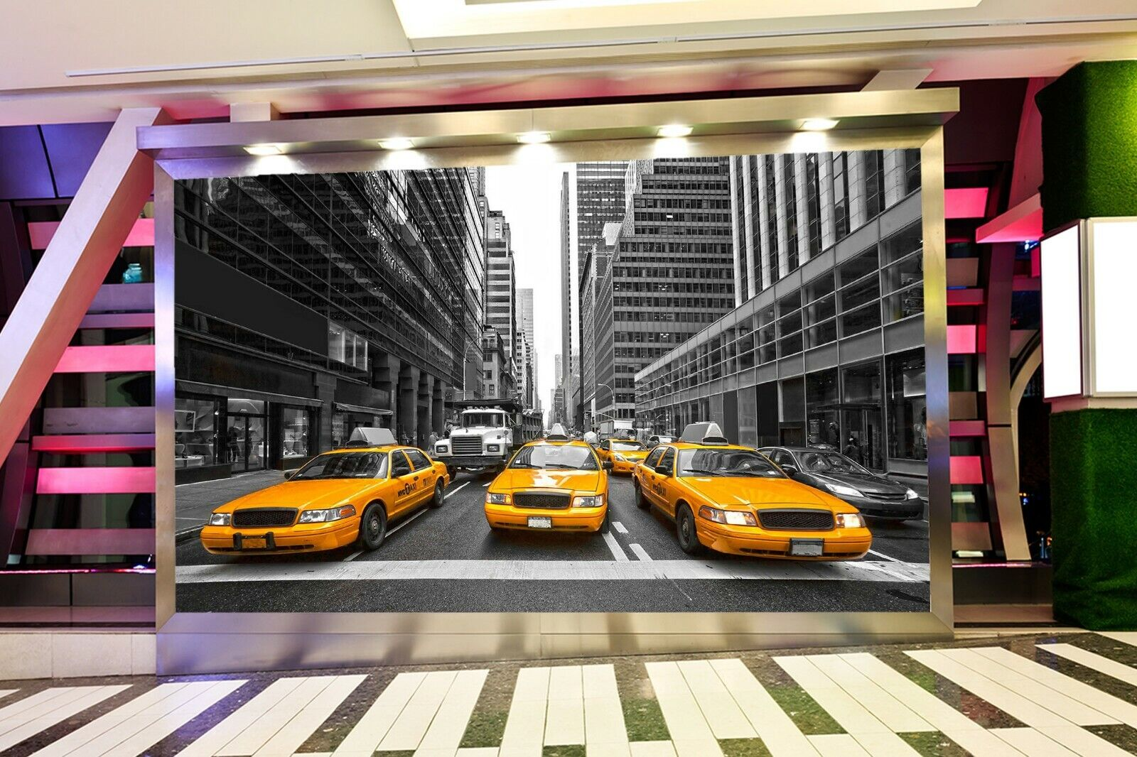3D Orange Car I87 Transport Wallpaper Mural Sefl-adhesive Removable Angelia