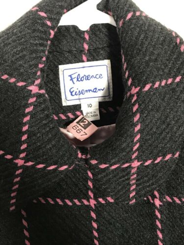 Girls Pink Og Double Størrelse Pea Grå Breasted Florence 10 Coat Eiseman wqUOxTFH