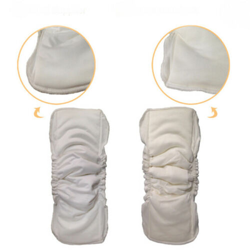 Baby Cloth Diaper Inserts Soaker Pads Reusable Washable No-Leaking LJ