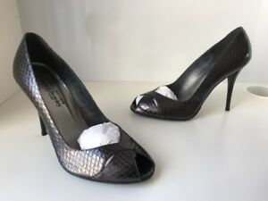Eu40 Snake Tacchi Black Peep London Uk7 alti Sz Toe Russell Bromley New PqwZTZ