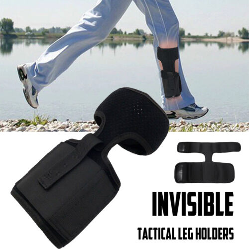 Leg Carry Tactical Pouch Holder Concealed Ankle Holster Hidden Outdoor Foot