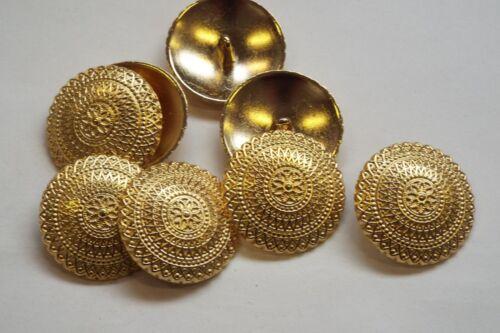 8pc 28mm bright gold turc inspiré metal cardigan knitwear bouton 3358