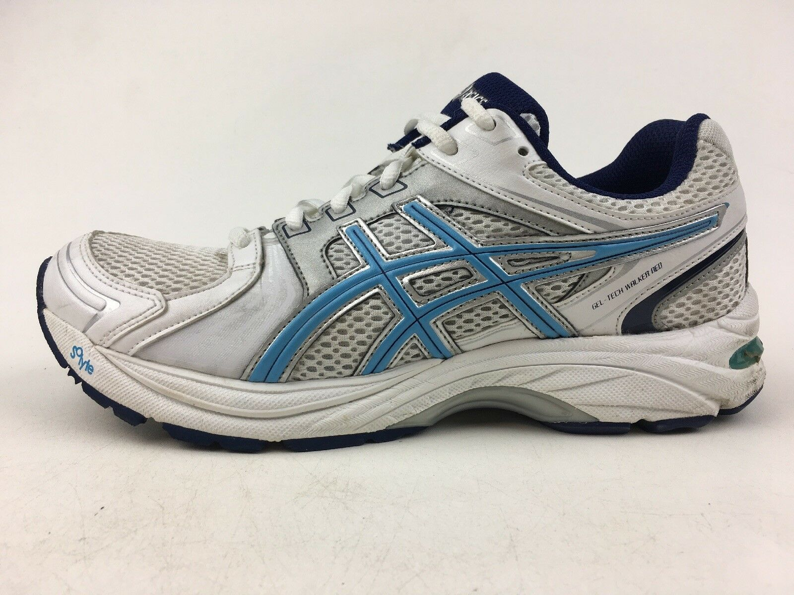 ASICS Women's Q468N Athletic shoes Size 8, White Periwinkle Ink 1343
