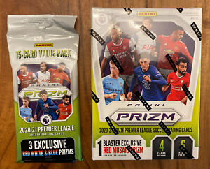 🔥2020-2021 Premier League Soccer Panini Prizm Blaster Box And a FAT PACK