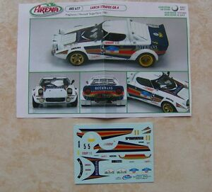 lancia stratos hf gr 4 rallye targa florio 1981 mauro pregliasco decals arena ebay. Black Bedroom Furniture Sets. Home Design Ideas