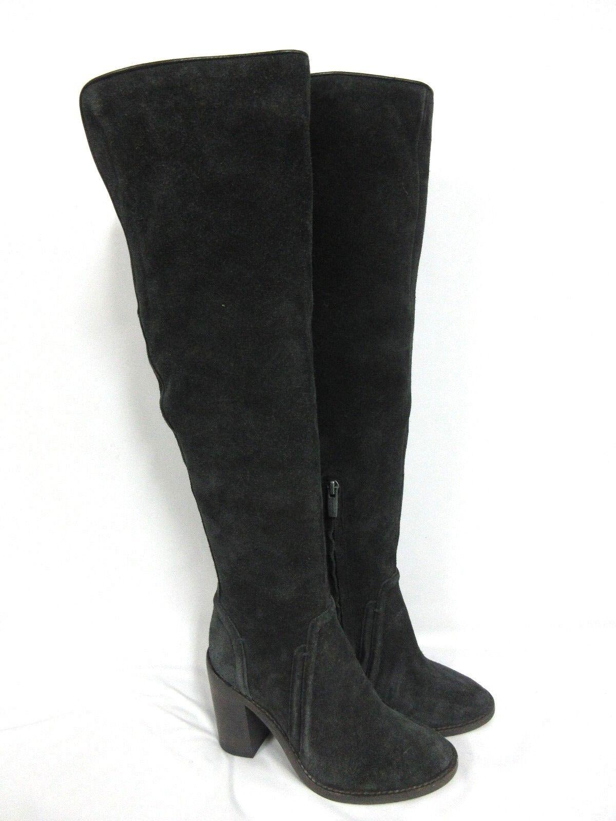 NEU Vince Camuto Melaya Over The Knee Suede Gray Stiefel  Größe: 5.5