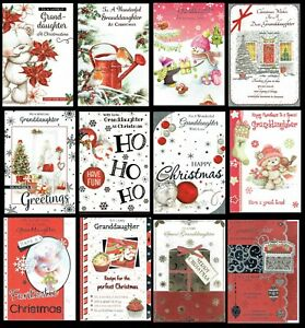 GRANDDAUGHTER Quality CHRISTMAS CARD ~ Quality Cards CHOICE of DESIGNS