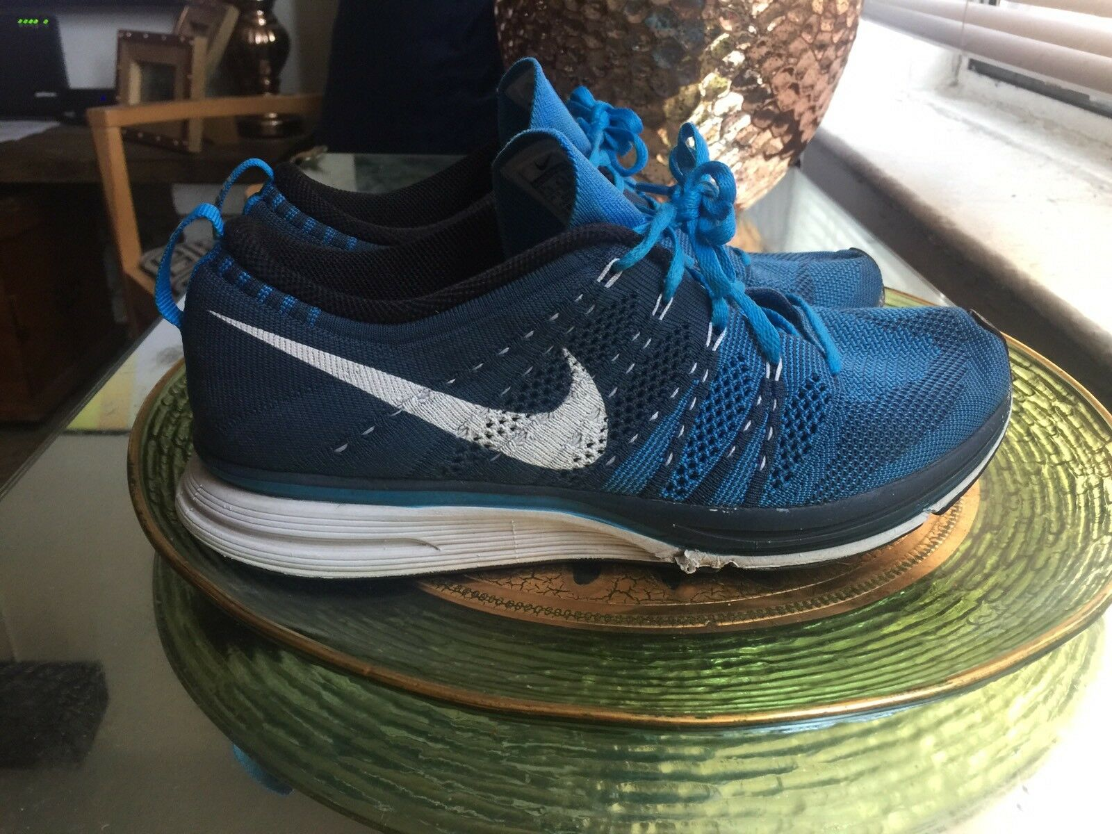 Nike Flyknit Trainer 2018 squadron blue white 532984 414 racer size 7.5 The latest discount shoes for men and women