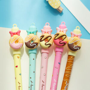 Am-2Pcs-Cartoon-Donut-Blue-Ink-Erasable-Pen-Magic-Rollerball-Pen-Stationery-Fas