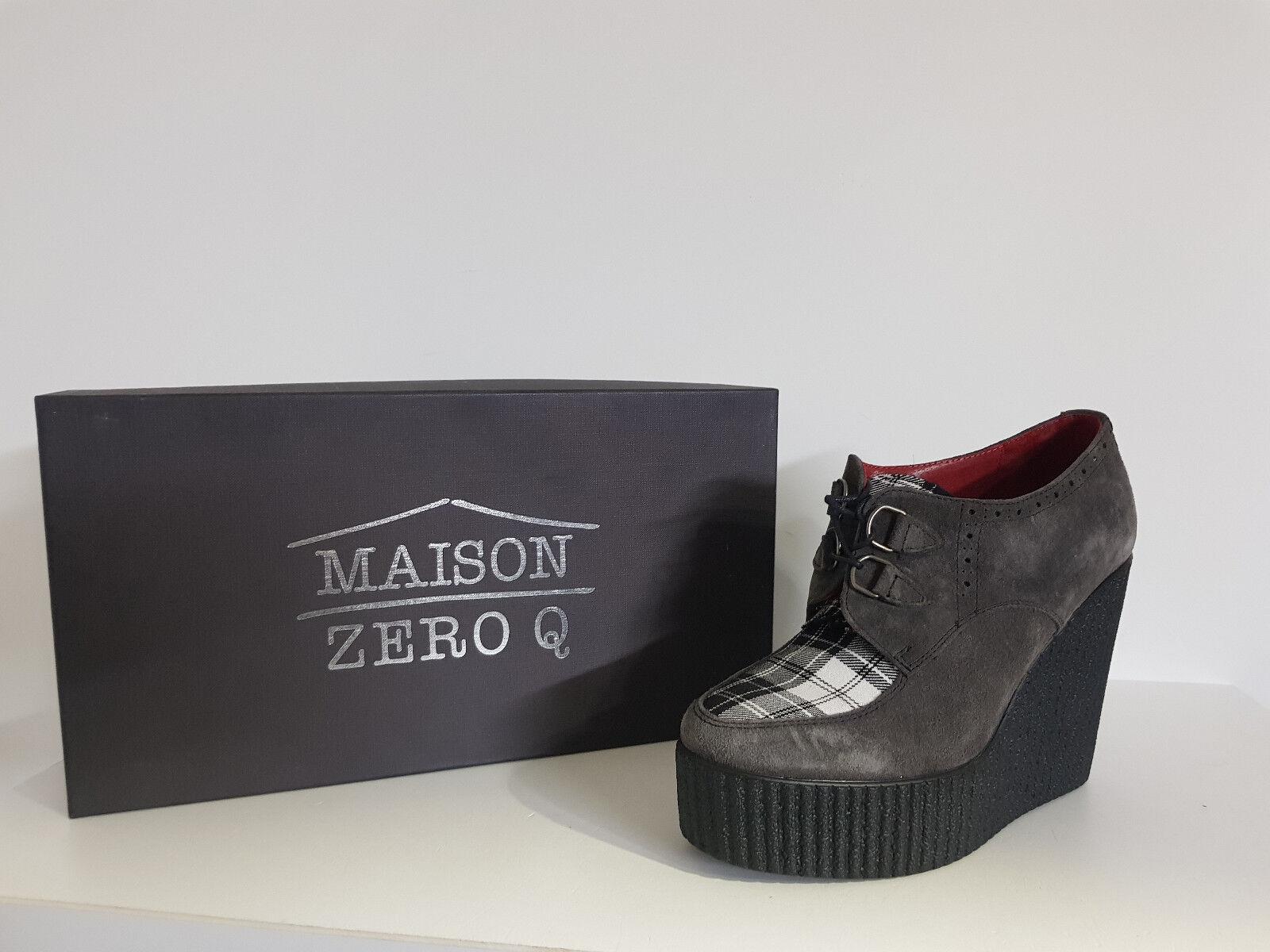 Damenschuh Maison Zero Q Rabatt. -75% Art.zq 42507 Col.grau Schottisch